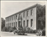 Donohoe Infirmary with Cars Outside