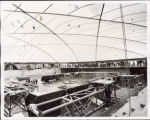 Construction inside Toso Pavilion