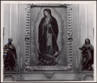 Close Up of Guadalupe with Statues