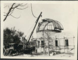 Crane Attaches Dome to Observatory