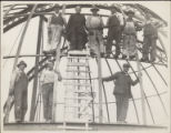 Father Ricard and Workers on Dome