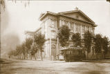 "College Hall or ""The Ship"" from the corner of Alviso and Franklin Streets, c. 1905"