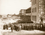Laying the Cornerstone for Kenna Hall, 1924