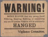 Vigilance Committee warning, April 1906