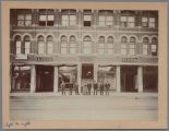 Lion's Furniture with Employees out front; Germania Hall upstairs, 1894
