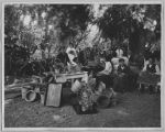Outdoor basket weavers, circa 1940