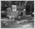 Girl Scouts Santa Clara Valley Day camping trailer, circa 1955