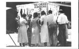 San Jose State College Spardi Gras Ice Cream Booth, 1934