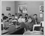 High school typing class, circa 1960