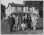 Japanese family in front of their house, circa 1930