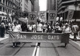 Gay Pride parade marchers, 1978