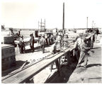 Relocation center being constructed, 1942-1945