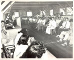 Camp council meeting, 1942-1945