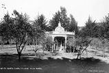 Orchard gazebo with Virgin Mary, circa 1911