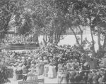 Knights at Mass in Open Air-No. 5, Santa Clara, May 30, 1907