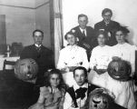 Halloween night at the Goff residence, Sunnyvale, October 1904