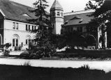 Conservatory building at College Park near San Jose, 1913