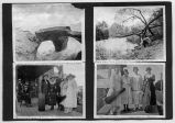 Photo album page, four images, circa 1910-1950