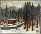 Moses Schallenberger's Cabin at the Truckee Lake Camp (known today as Donner Lake)