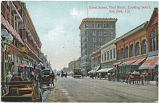 Street Scene, First Street, Looking South, San Jose, Cal., circa 1900-1910