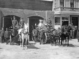Steam Pumper and Firemen, circa 1900-1910