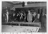 Pool Room Scene, East San Jose, circa 1910-1920