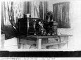 Radio telephone transmitter installed in yacht 'Thelma,' 1907