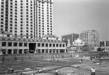 Construction of the Pavilion buildings, First Street, San Jose, CA, 1987