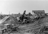 Demolition work College of Notre Dame buildings, W. Santa Clara St., San Jose, CA, circa 1920-1930