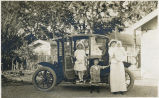 Campin Family with Baker Electric Automobile, circa 1915