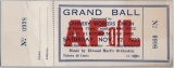 Grand Ball ticket, 1937
