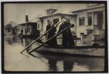 Boating Down a Flooded San Jose Street, 1911
