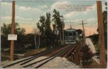Interurban Railway Car and Trestle, 1909