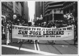 Lesbian March on San Jose, circa 1980