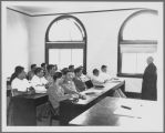 Fr. O'Connell's English Class in O'Connor Hall, 1947