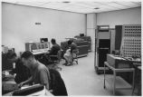 Students and Faculty work in early Computer Lab in Sullivan Engineering Center, circa 1965