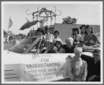 Friends of the Library Float, Columbus Day Parade, Santa Clara, 1965