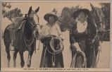 Fair riders of the range at the round-up, July 1-2-3-4, circa 1915