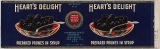 Heart's Delight Prepared Prunes in Syrup, circa 1940