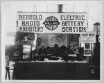 Charles Herrold in radio lab booth, circa 1925