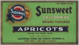 Sunsweet California's nature-flavored apricots, circa 1940