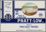 Pratt-Low Brand Prune Label, circa 1962