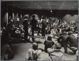 Student residents of Swig Hall debate the Vietnam War in 1970