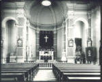 Student chapel with dark drapery