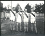 4 members of the 1911 track team