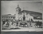Copy of Hill's paining of Mission Santa Clara